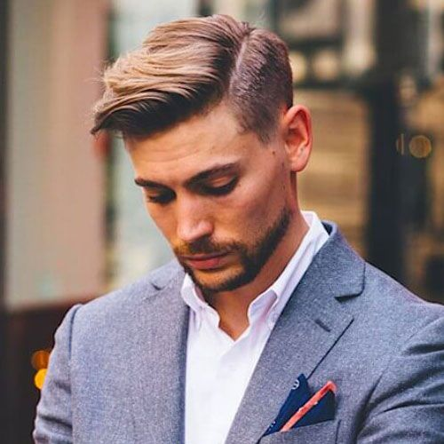 Business Hairstyles Side Part Comb Over