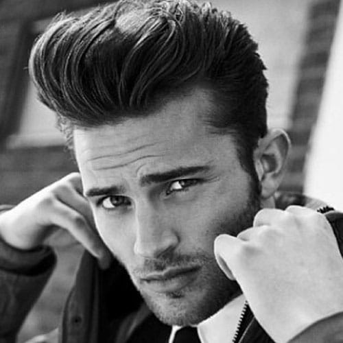 pompadour hairstyle for men 2018 men 39 s haircuts hairstyles 2018. Black Bedroom Furniture Sets. Home Design Ideas