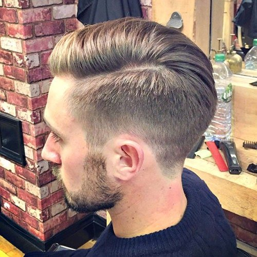 Classic Taper Haircut - Comb Over and Beard