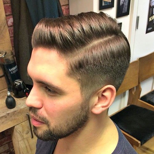 Classic Tapered Haircut with Comb Over