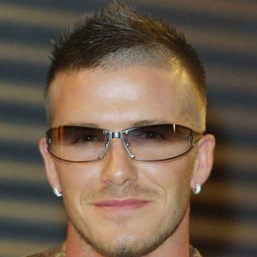 Cool David Beckham Haircut - Skin Fade with Faux Hawk