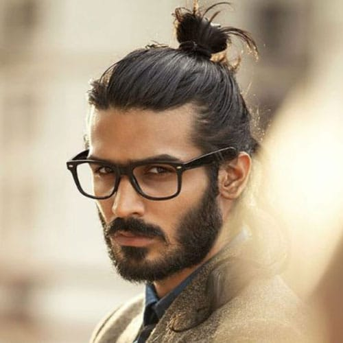 Cool Man Bun with Beard