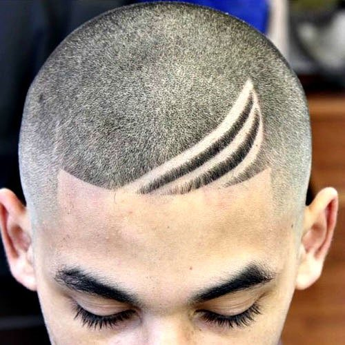 Cool Men's Buzz Cut with Hair Design