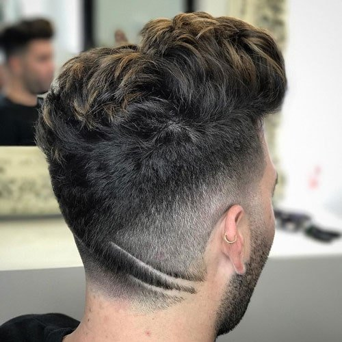 Cool Men's Quiff Hairstyle with Hair Design