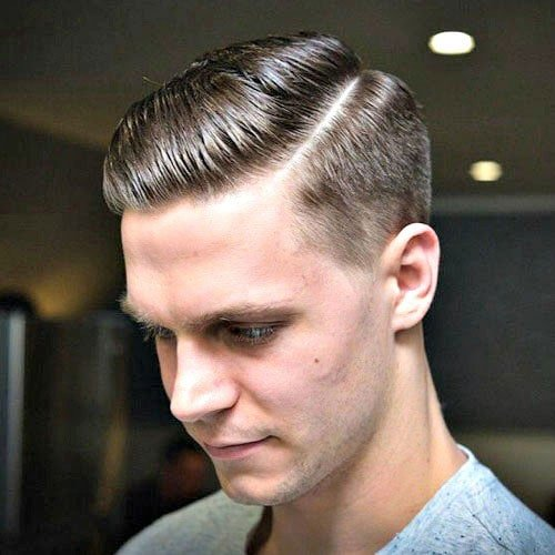 Cool Modern Hard Side Part with Short Sides