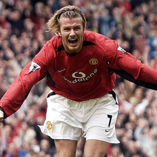 David Beckham Hair - Long Hair with Headband
