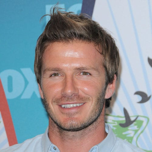 David Beckham Haircut - Brushed Up Hair