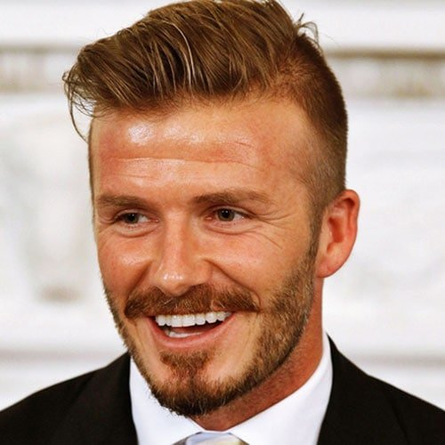 David Beckham Hairstyle - Fade with Comb Over and Beard