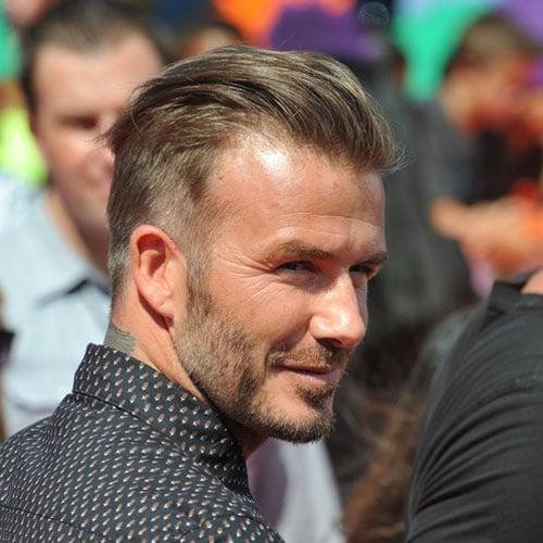 David Beckham Hairstyle - Slicked Back Hair