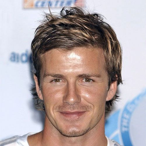 David Beckham Hairstyles - Long Messy Hair