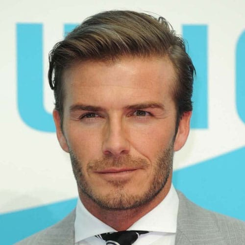 David Beckham Hairstyles - Short Sides with Long Comb Over