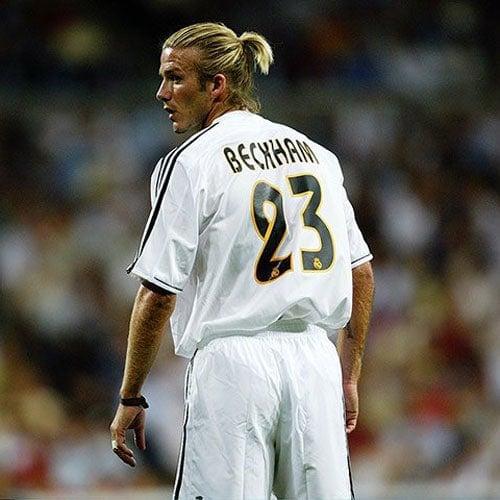 David Beckham Man Bun Ponytail