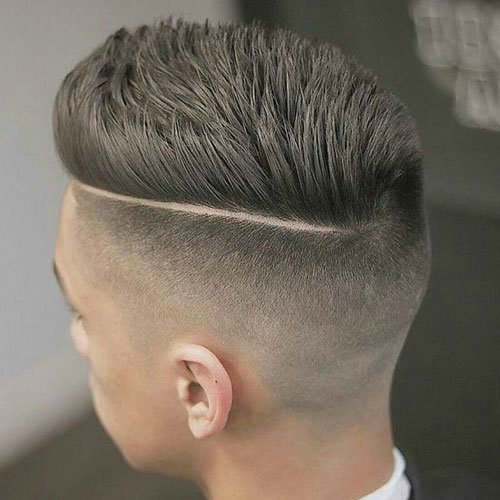 Disconnected Undercut Pompadour