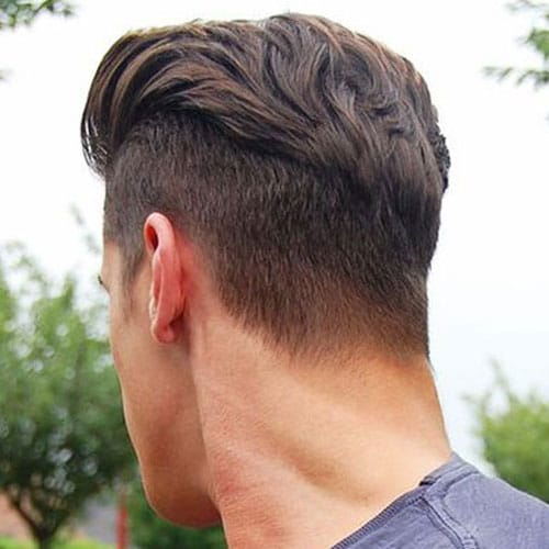 Disconnected Undercut with Brushed Back Hair