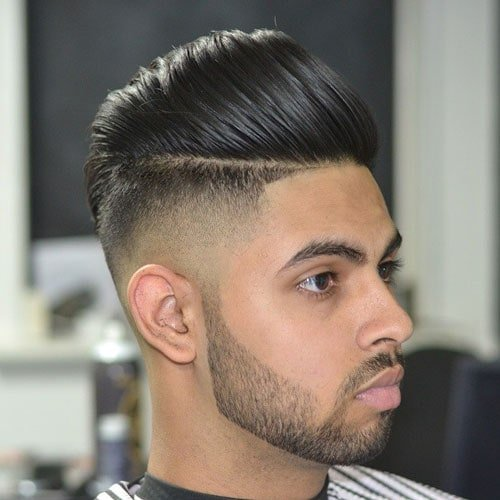 Fade Undercut with Combed Over Pompadour