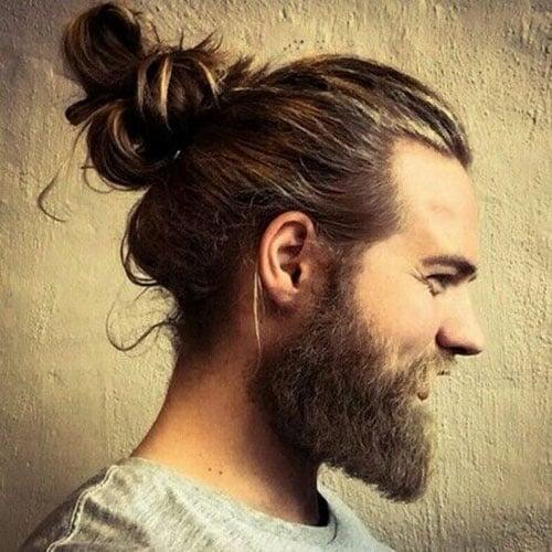 Hair Bun For Men - The Man Bun with Beard