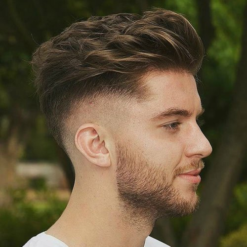 High Skin Fade and Drop Down with Quiff