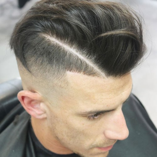 High Skin Fade with Comb Over and Hard Part
