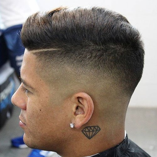 High Skin Fade with Textured Comb Over