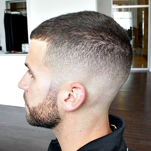 High and Tight - High Fade with Short Crew Cut