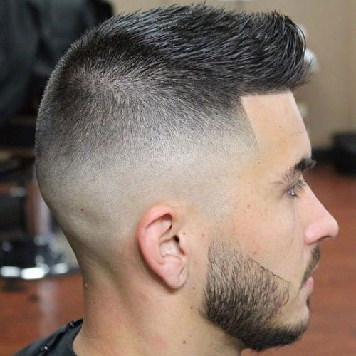 High and Tight - High Skin Fade with Crew Cut and Beard