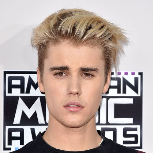 Justin Bieber Hairstyle - Slicked Back Hair