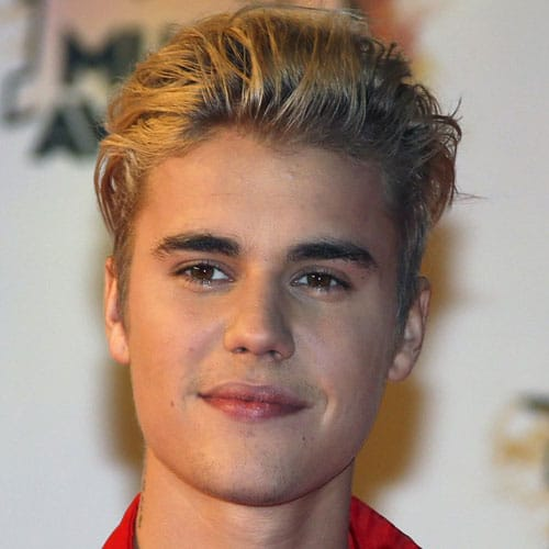 Justin Bieber Hairstyle - Textured Slicked Back Hair