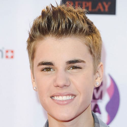 Justin Bieber Hairstyles - Spiky Hair