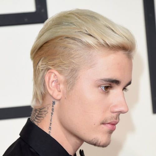 Justin Bieber Platinum Blonde Hair
