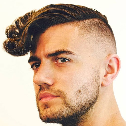 Long Wavy Hair with Undercut and Beard
