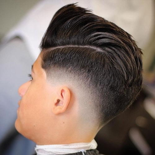 Low Bald Drop Fade with Comb Over