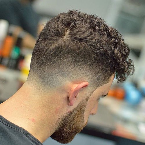 Low Drop Fade with Long Fringe