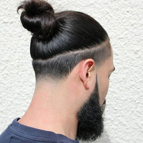 Low Fade Man Bun