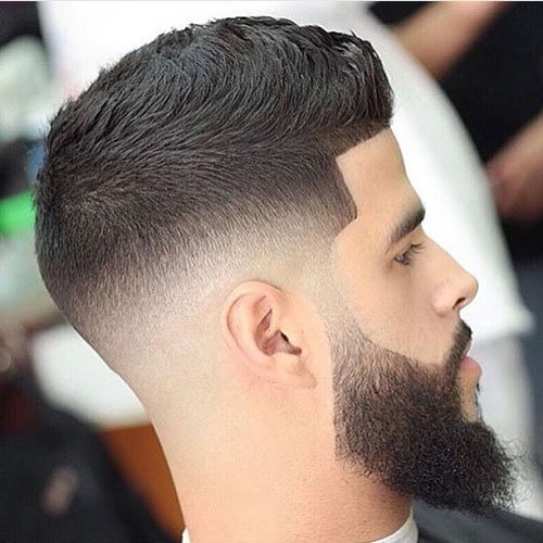Low Skin Fade with Beard