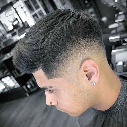 Low Skin Fade with Brush Up