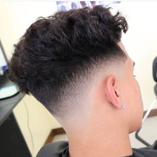 Low Skin Fade with Long Hair on Top
