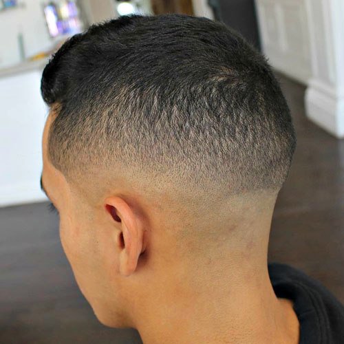 Low Skin Fade with Short Tight Top