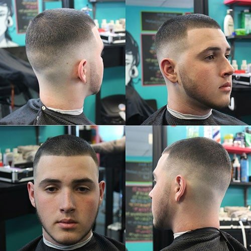 Men's High and Tight - Mid Bald Fade with Very Short Top