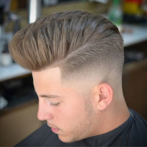 Modern pompadour fade hairstyle
