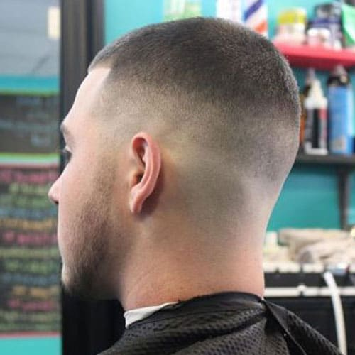Military High and Tight - High Fade with Buzz Cut