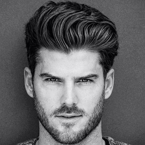 Professional Hairstyles For Men - Thick Quiff with Short Sides and Beard