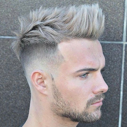 Quiff Haircuts - High Skin Fade with Quiff and Brushed Up