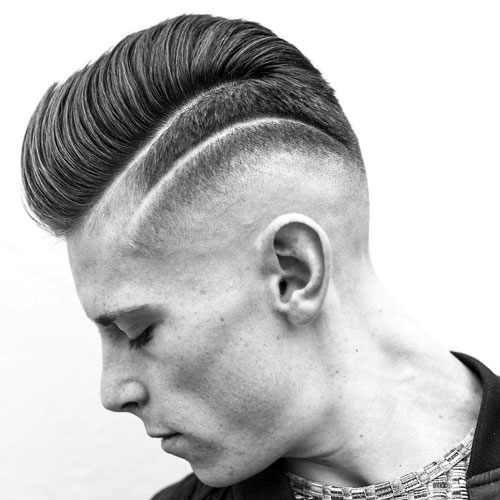 Short Pompadour with Skin Fade