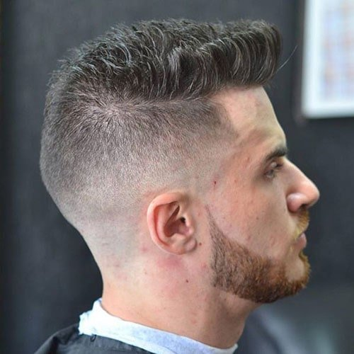 Short Quiff with High Skin Fade