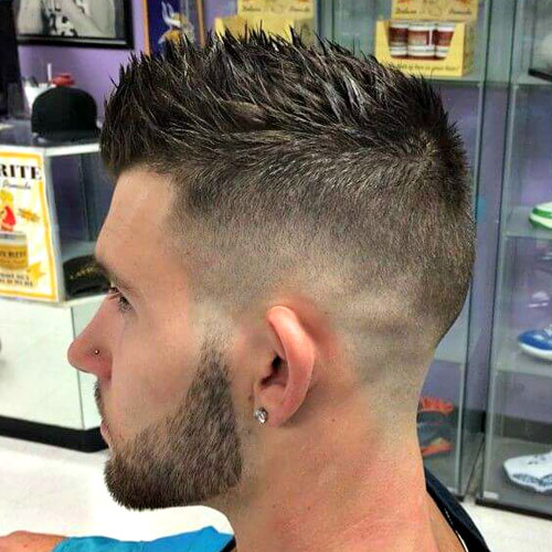 Spiked Hair with High Skin Fade