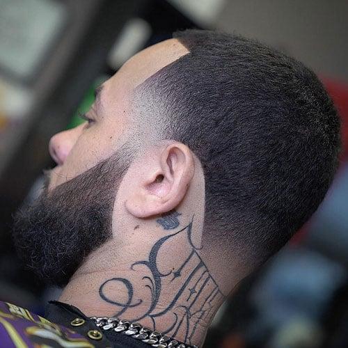 Temple Fade + Shape Up + Buzz Cut + Beard