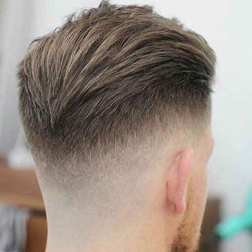 Textured Slick Back with Drop Fade