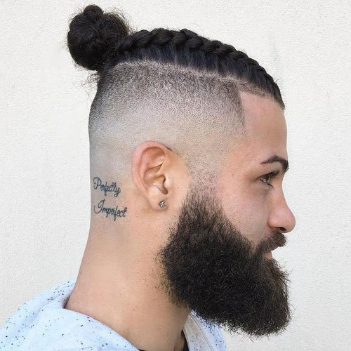 Top Knot with Shaved Sides