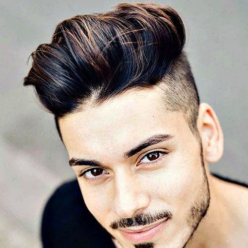 Undercut with Long Textured Hair on Top