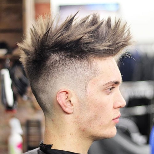 Undercut with Thick Textured Spiky Hair